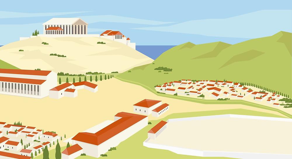 Иллюстрация Древняя Греция, Олмпия