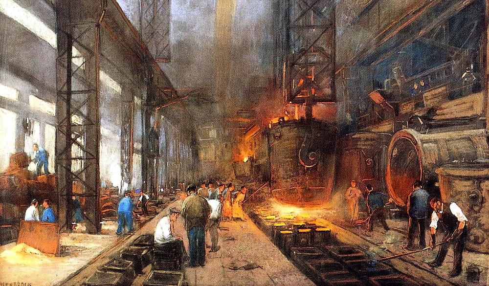 производство на заводе или фабрике