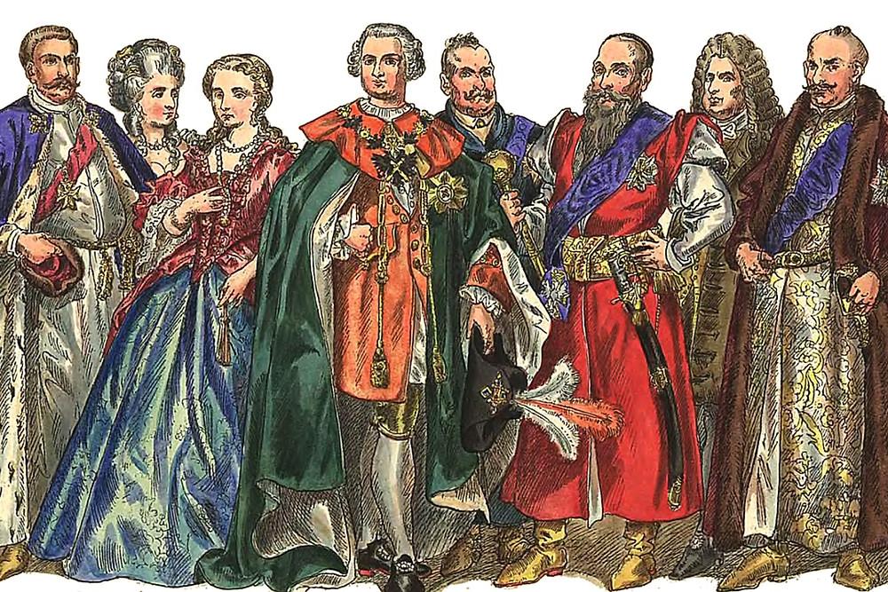 наряды дворян