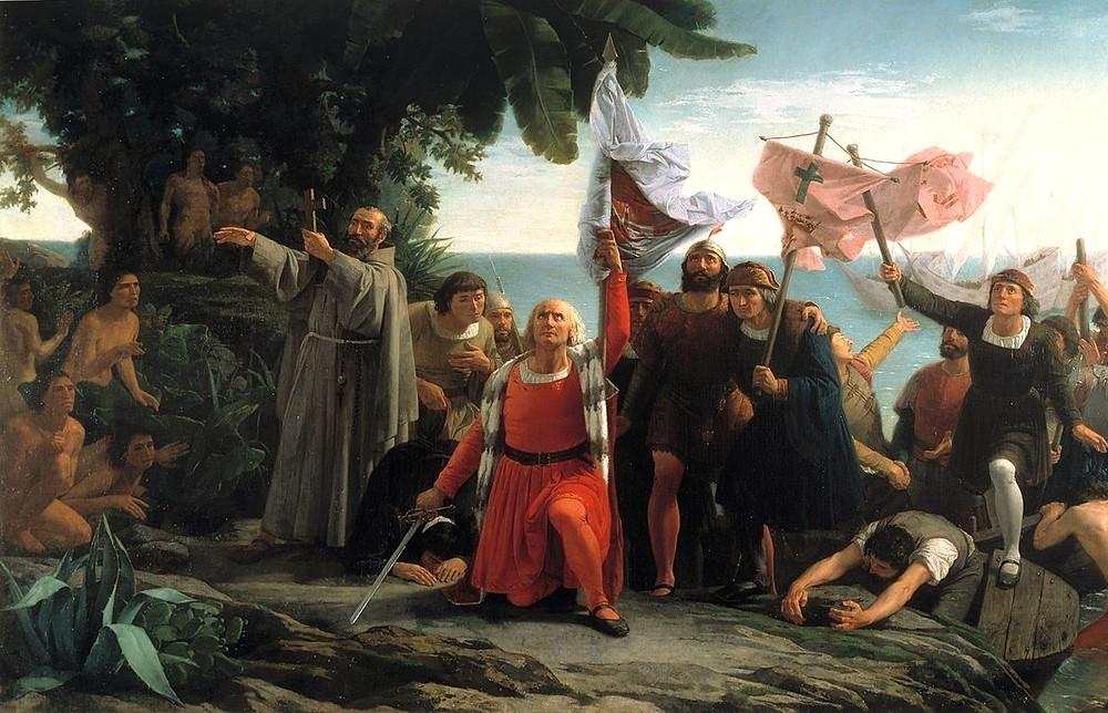 Первая высадка Колумба в Америке