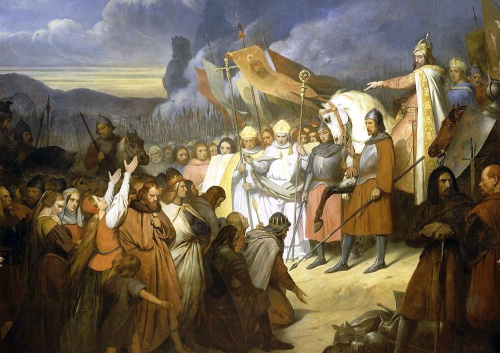 Карл Великий в военном походе
