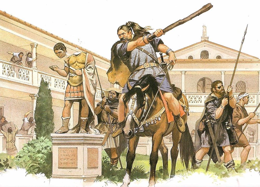 варвары в Риме крушат