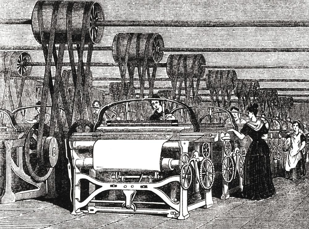 текстильная фабрика, индустриализация 18-19 вв.