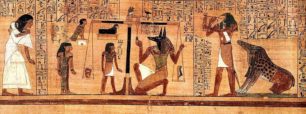 Древний Египет, фреска, боги