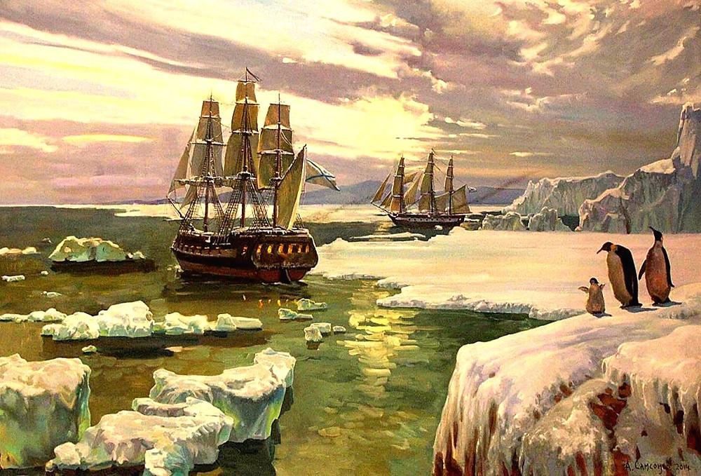 Корабли русских первооткрывателей Антарктиды