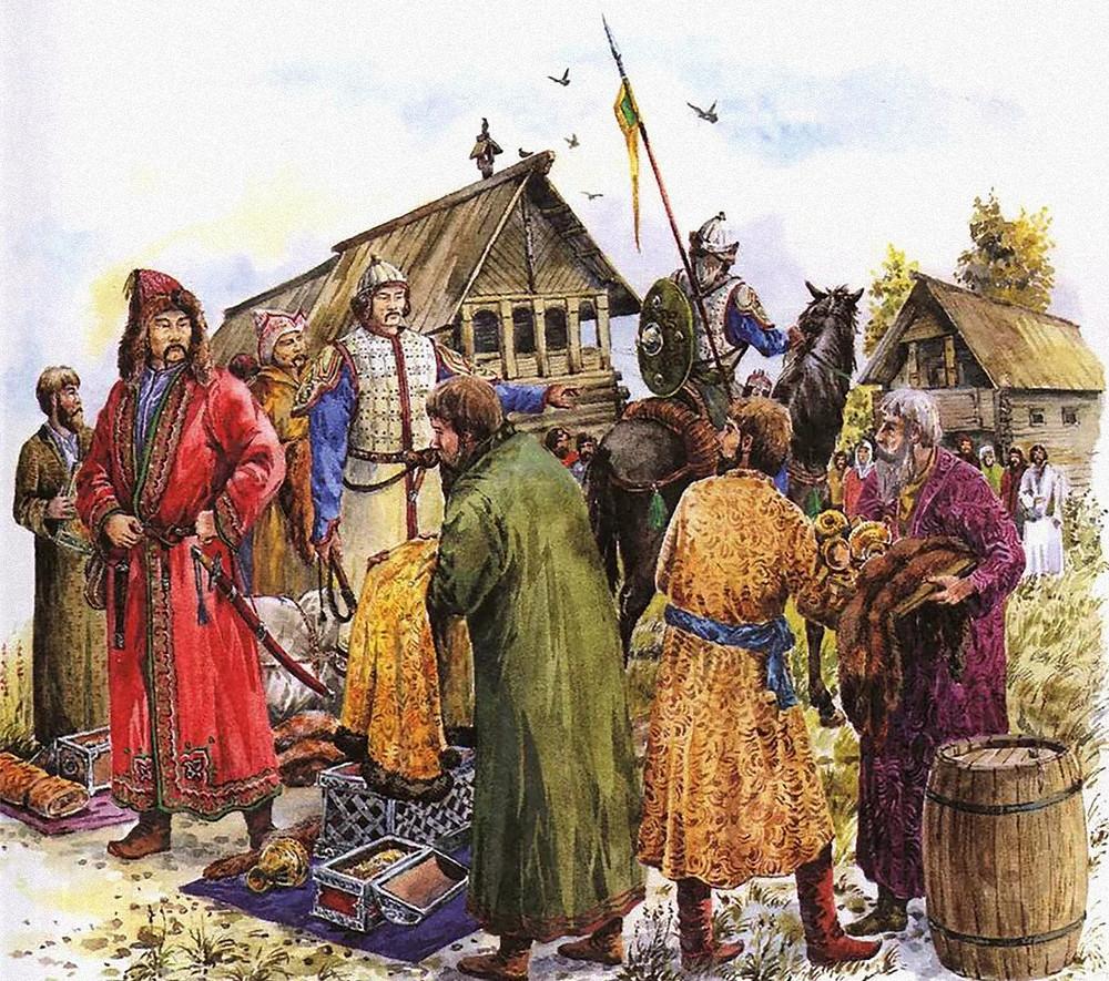 Сбор дани монголо-татарами