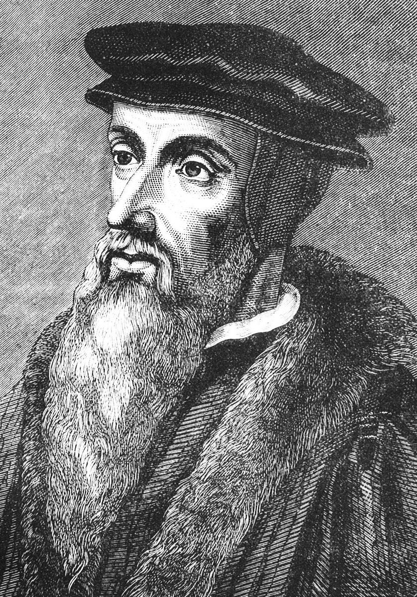 Жан Кальвин, гравюра 16 века