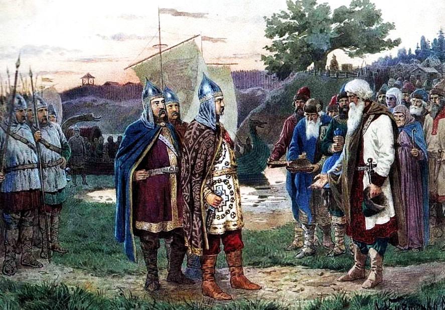 Прибытие Рюрика и его дружинников