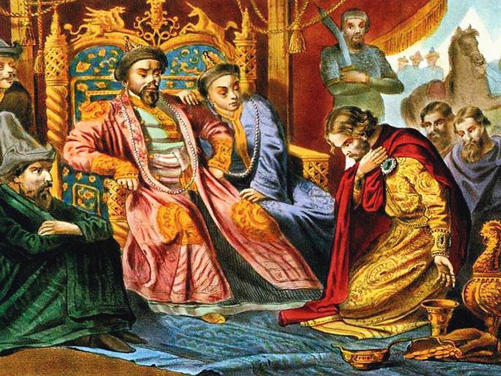 Русский князь просит ярлык на княжение