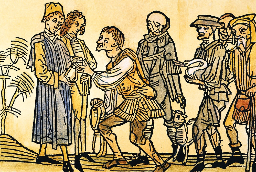 Феодализм и крестьяне, гравюра