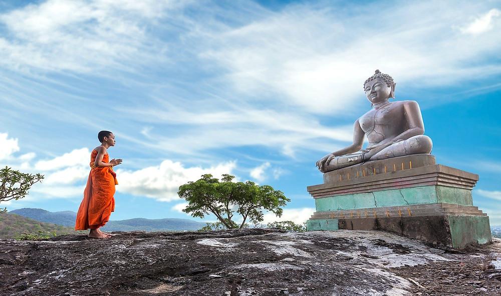 Буддизм, памятник Будде, статуя