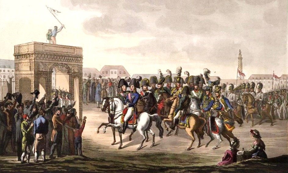 Император Александр 1 въезжает в париж