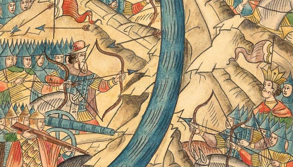 Стояние на реке Угре — Фрагмент гравюры