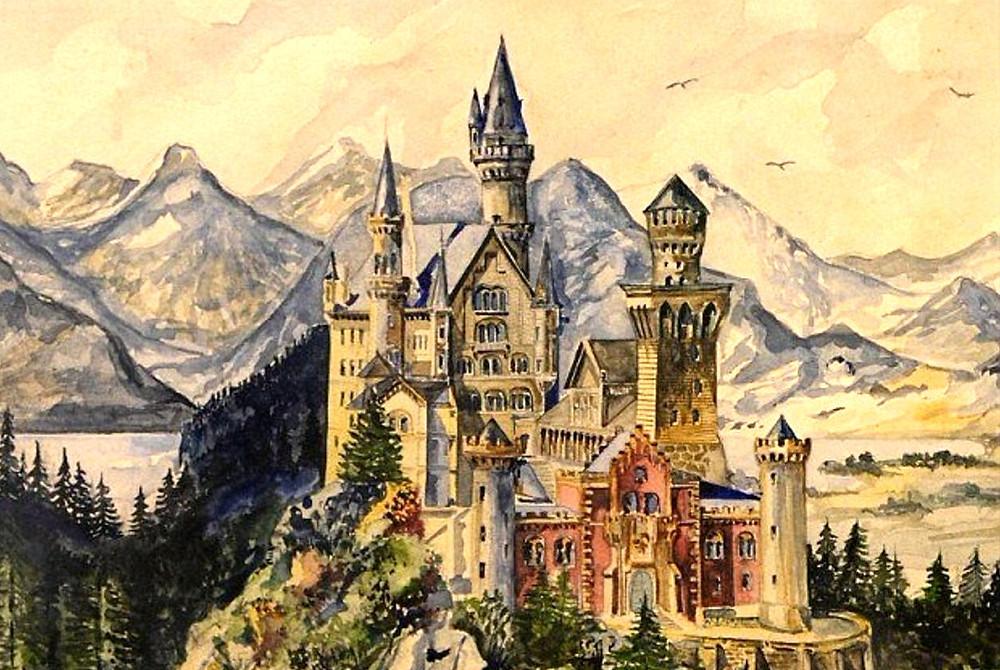 замок нойшванштайн картина гитлера