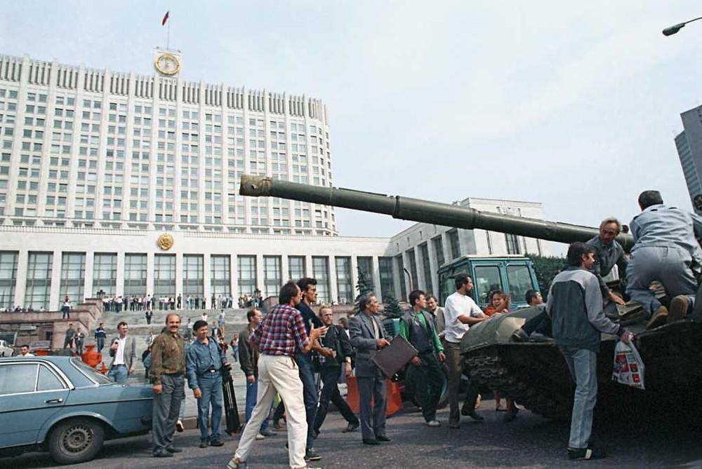 путч 1991, танки в москве