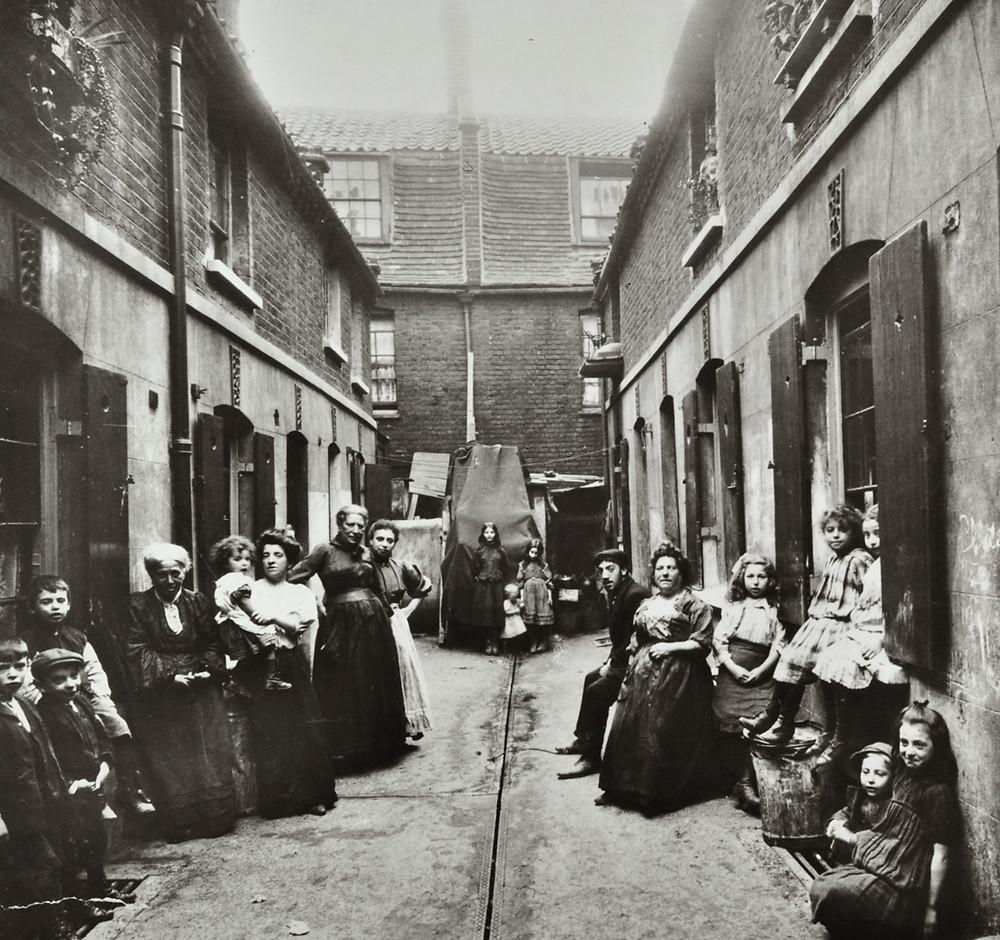 трущобы лондона, улица 19 век