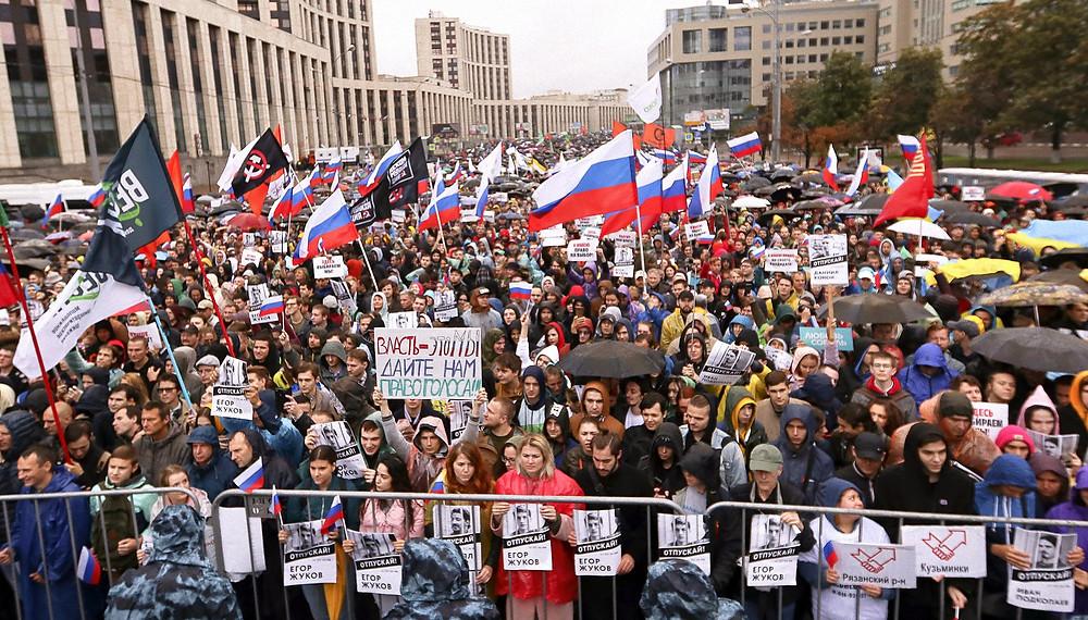 Мирный протест, митинг в Москве