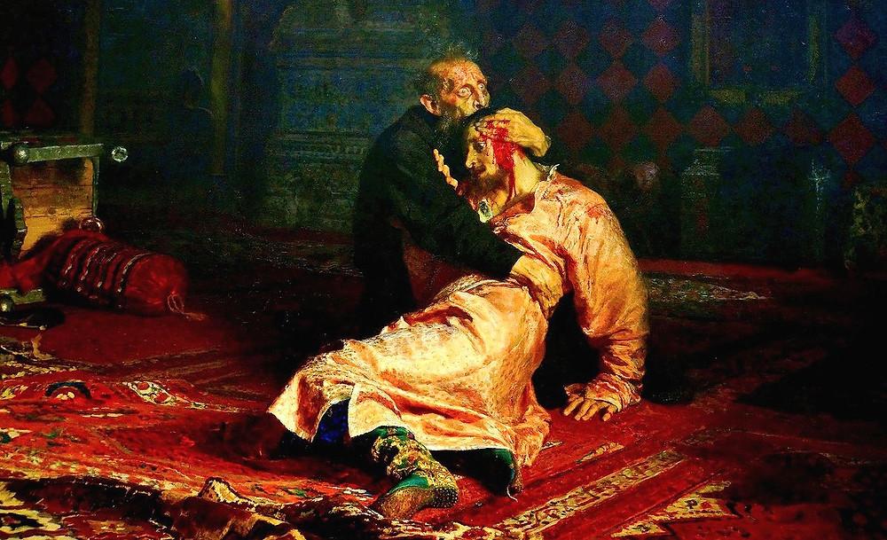 Картина И. Репина - Иван Грозный с сыном
