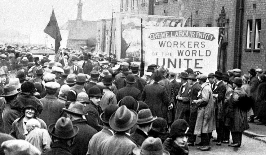 Забастовка рабочих в Лондоне