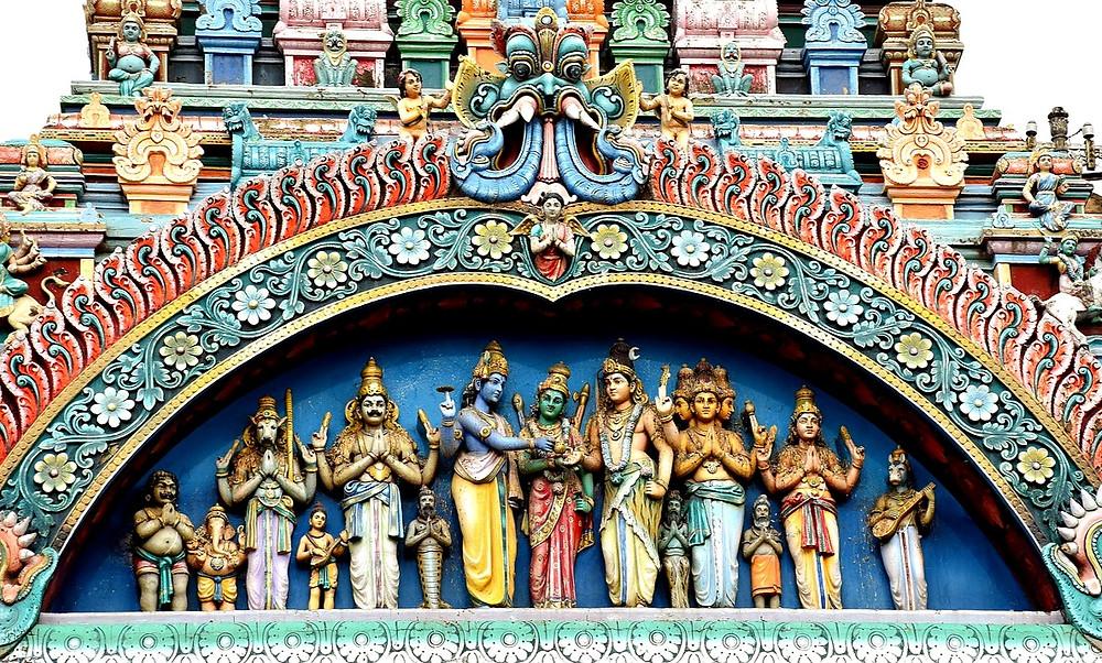 Индуизм, храм, скульптуры, Шива