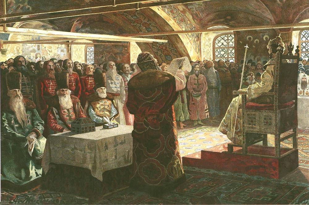 Избранная рада, Земский собор, Картина А. Максимова