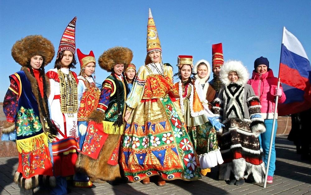 народы россии в костюмах вместе