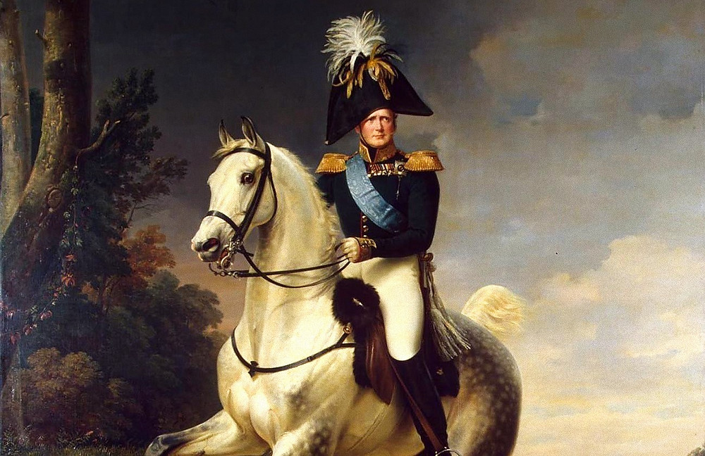 Портрет Александра I верхом на коне