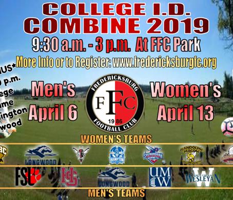 College Combine ID:  Fredericksburg FC