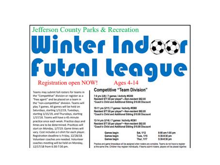 Winter Indoor Futsal League