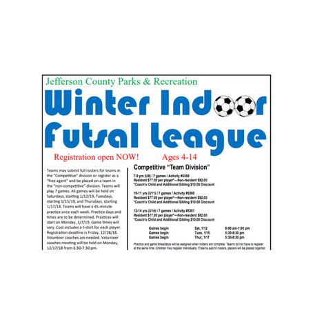 Winter Indoor Futsal League