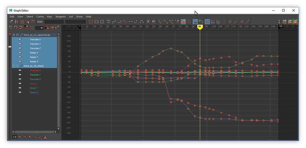 Dirty graph editor right after stepped conversion to spline ( auto tangent)