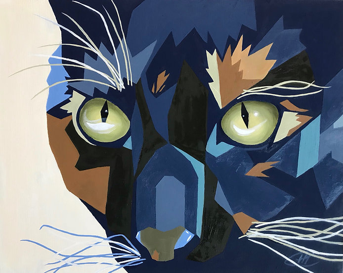 Blue Cat Archival Print