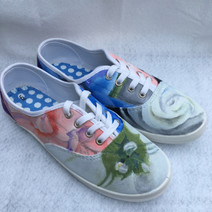Acrylic on canvas shoes