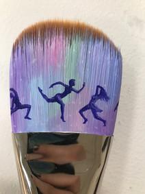 Acrylic on paintbrush