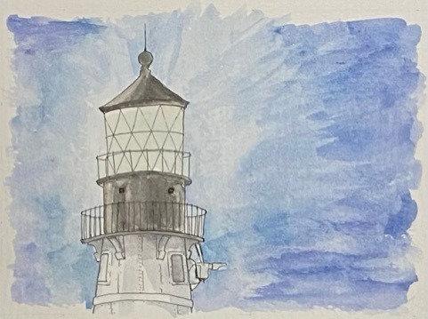 Lighthouse Evening (8x10)