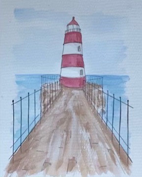 Lighthouse Mid-day (8x10)