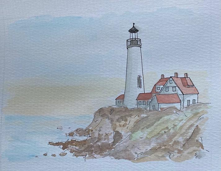 Lighthouse Sunrise (8x10)