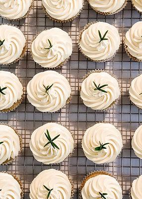 Orange Olive Oil Rosemary Cupcakes