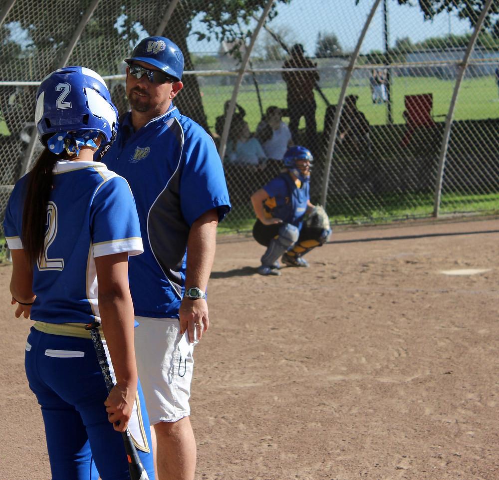 Coach Donaldson and Senior Kaytlin Donaldson