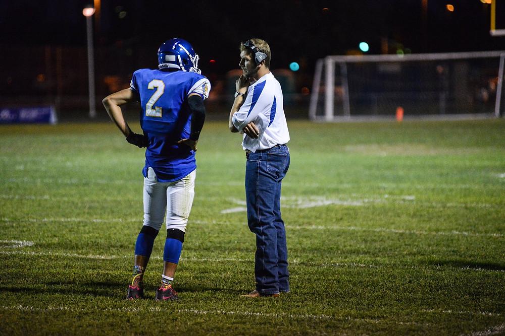 Mike Vivo Talks With Coach Hawkins