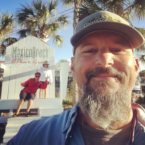 Selfie time at the Mexico Beach visitor's center