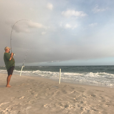 The surf fishing is spectacular