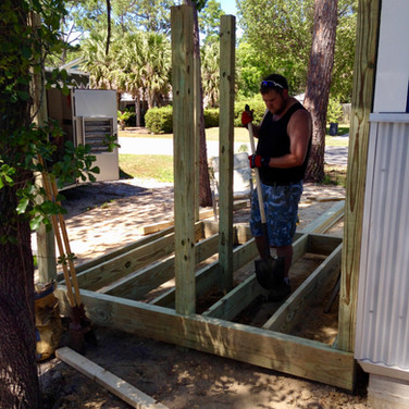 Building the Outdoor Shower