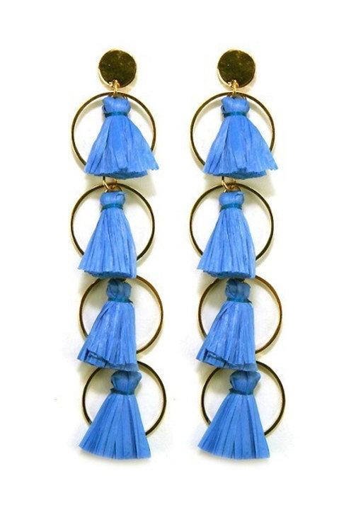 Glam metal ring earrings