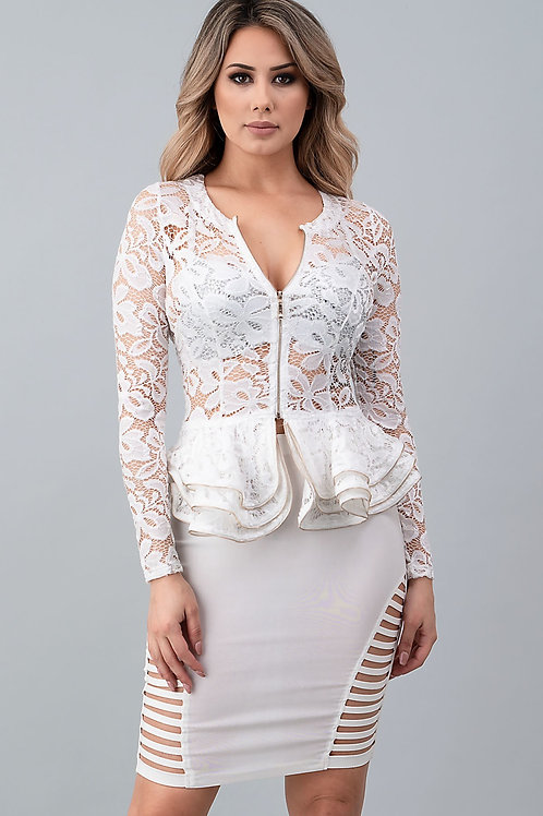 beautiful lace peplum blouse