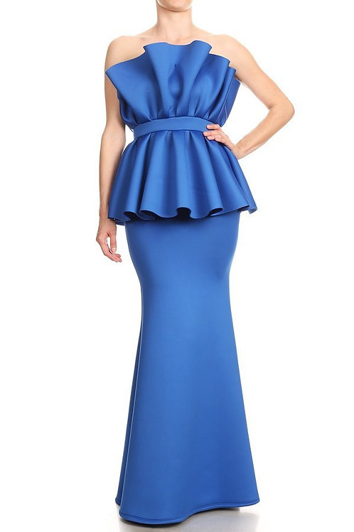 Elegant ruffle mermaid gown