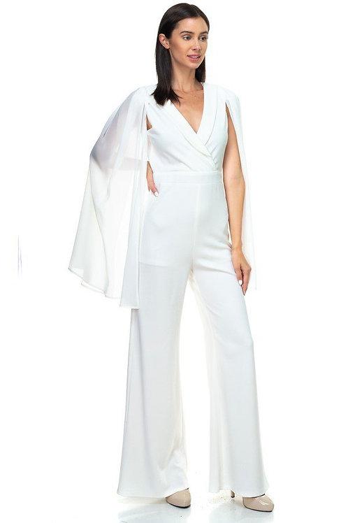 Glamorous cape sleeves jumpsuit