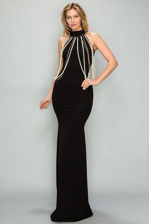 Elegant Mermaid evening with pearls
