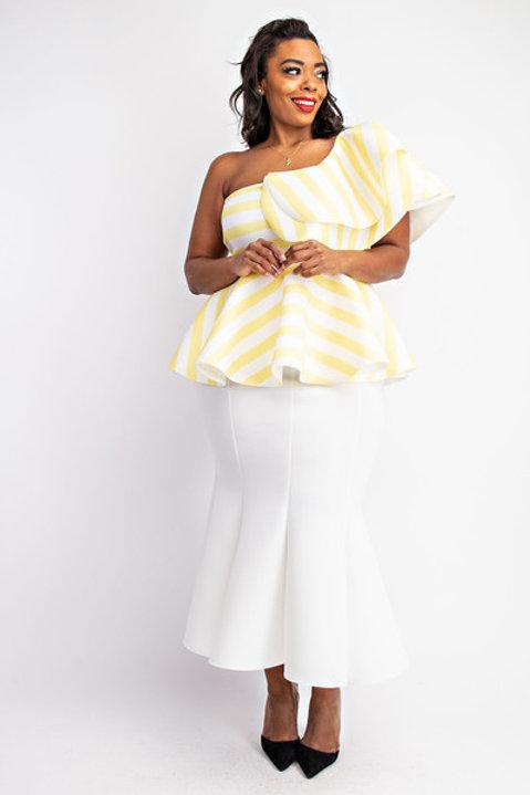 Plus size mermaid scuba maxi skirt