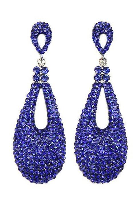 Glam metal stones earrings